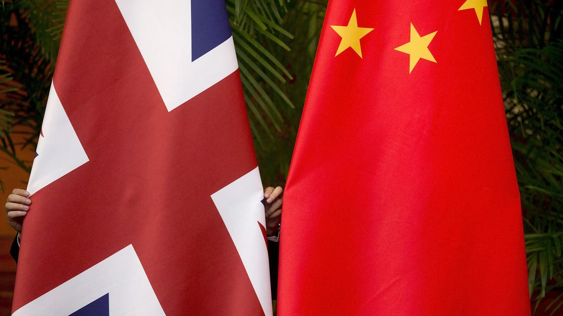 China and UK flags - Reuters