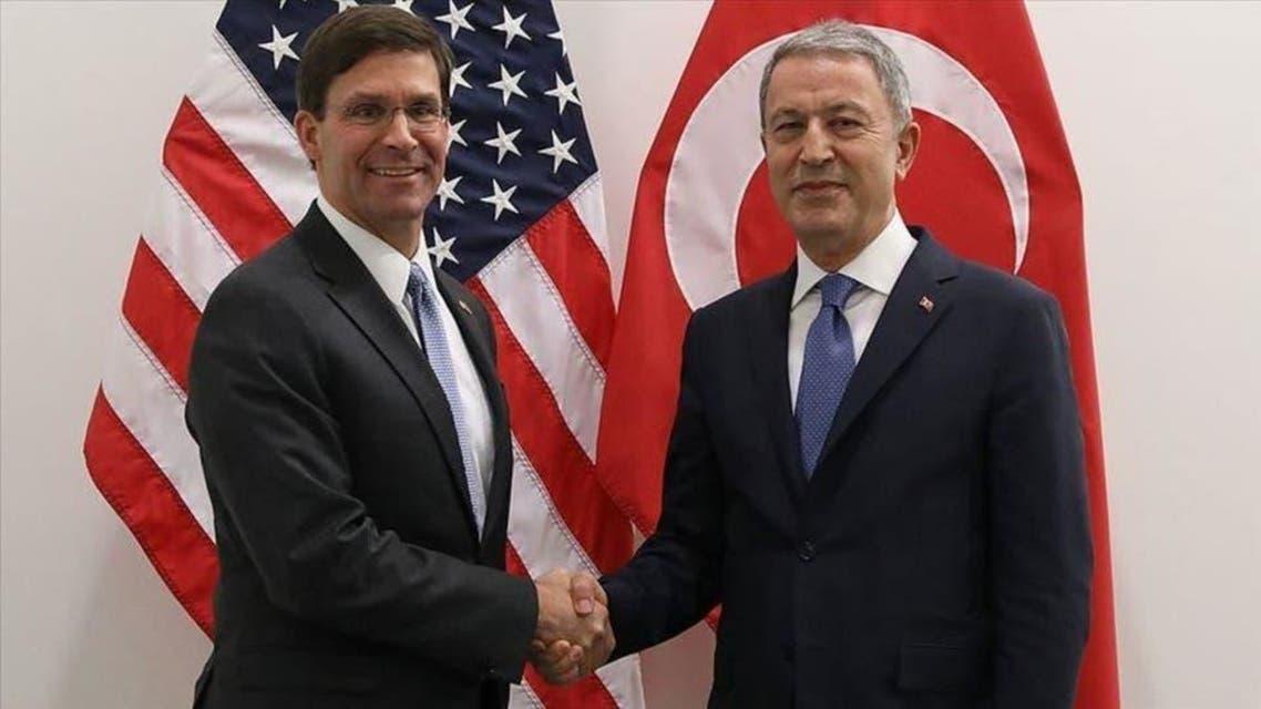 ترک وزیر دفاع حلوصی آکار اور امریکی وزیردفاع مارک ایسپر کی ملاقات