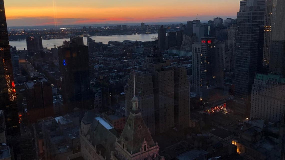 A blackout affects buildings in the Manhattan borough of New York. (Reuters)
