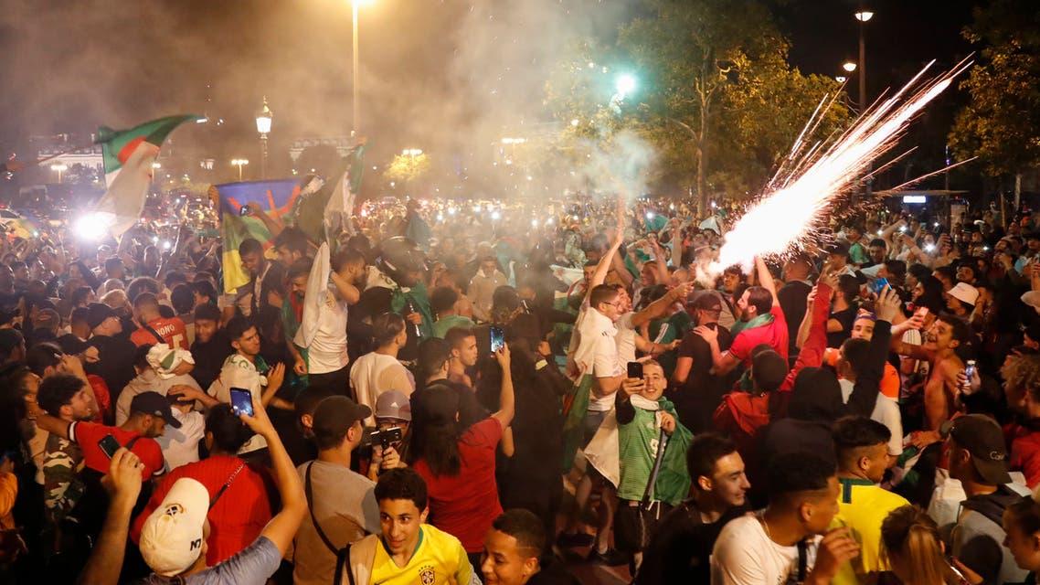 احتفالات في باريس بتأهل الجزائر لكأس أمم إفريقيا