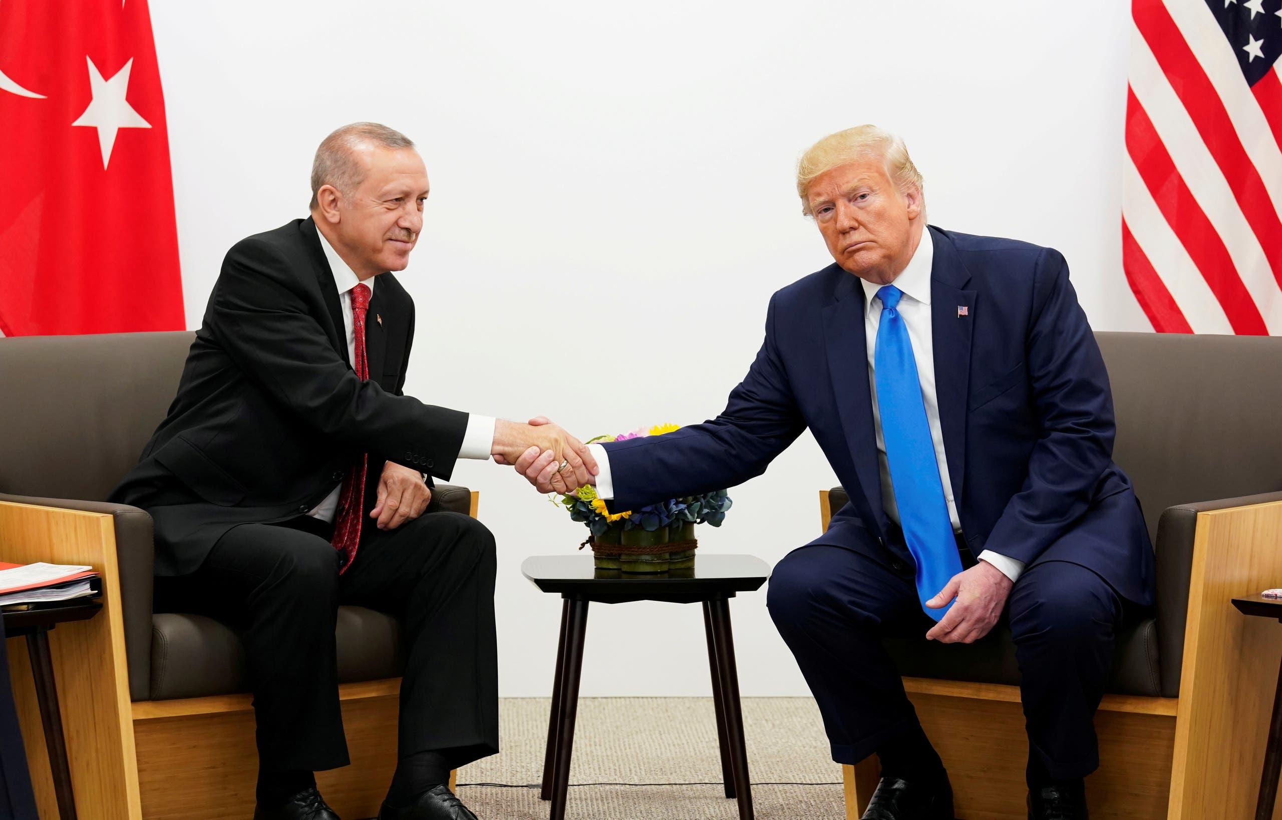 الرئيسان ترمب وأردوغان في لقاء سابق