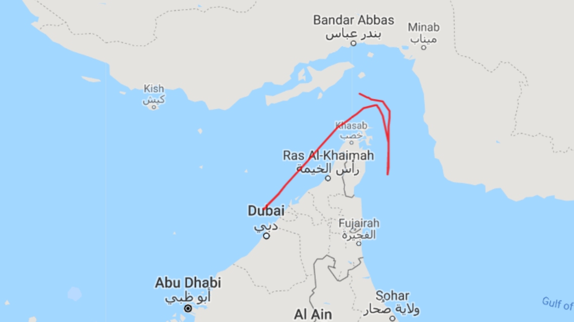 A track of the ship from MarineTraffic.com beginning on July 5 until the day it stopped transmitting positions showed that the vessel was positioned initially near a port off the coast of the UAE.