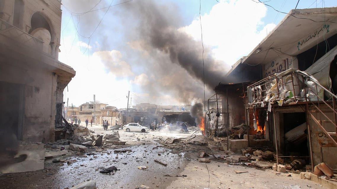 Syria airstrikes July 16 (AFP)