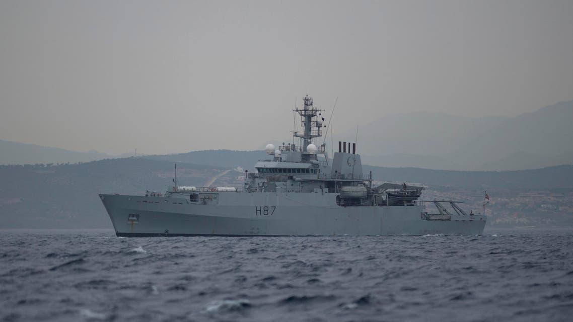 British ship HMS Echo patrols near Grace 1 - AFP