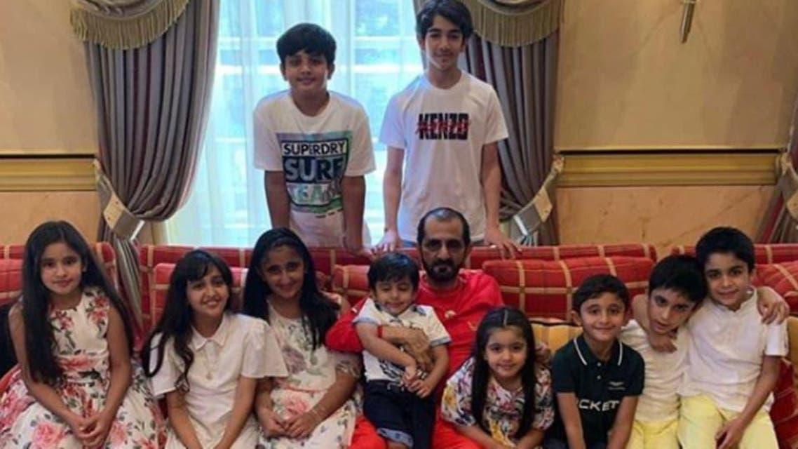 Muhammad bin rahsid celebrates his Birthday with family