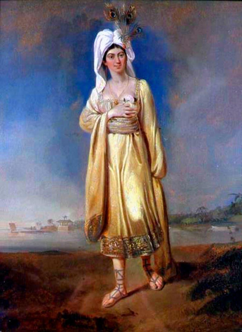 لوحة تجسد الأميرة كارابو