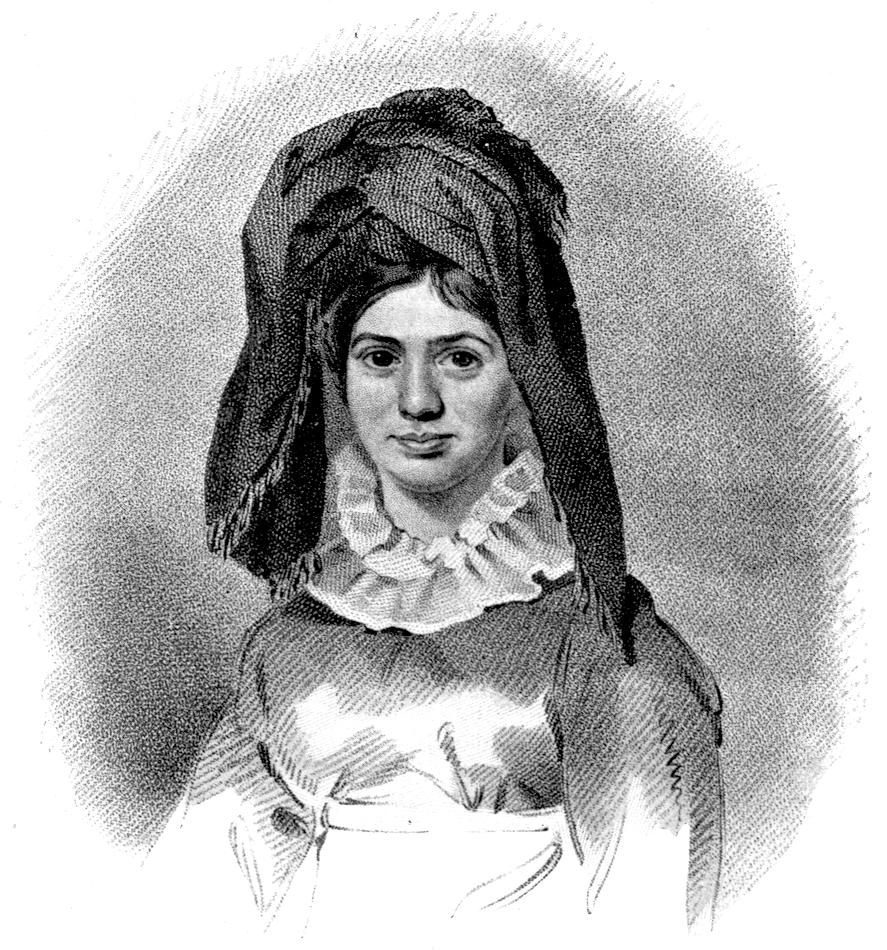 صورة تجسد الأميرة كارابو والعمامة على رأسها