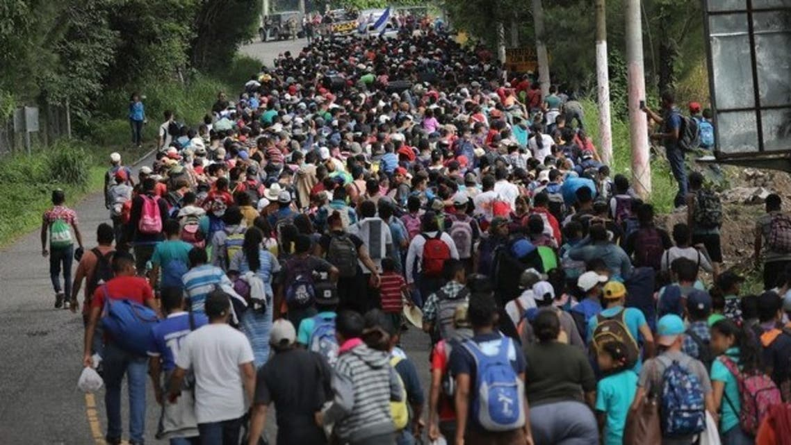 إحدى قوافل المهاجرين إلى المكسيك