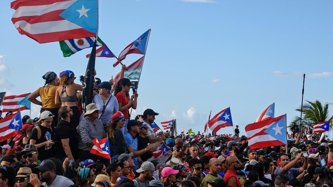 Puerto rico protests. (Reuters)