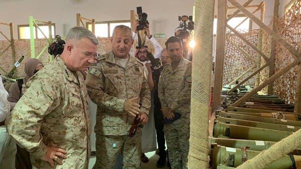 قائد القيادة المركزية الأميركية يشاهد صواريخ الحوثيين على السعودية