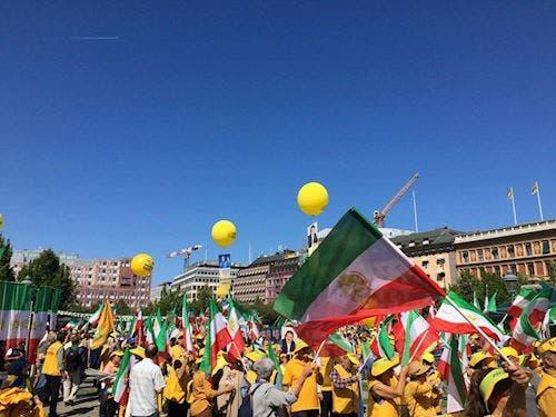 صحنهای از تظاهرات استوکهولم