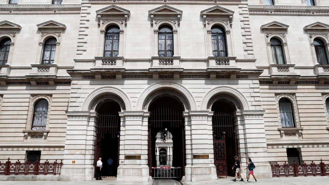 A general view of the British Foreign and Commonwealth office in London, Wednesday, July 10, 2019. (AP)