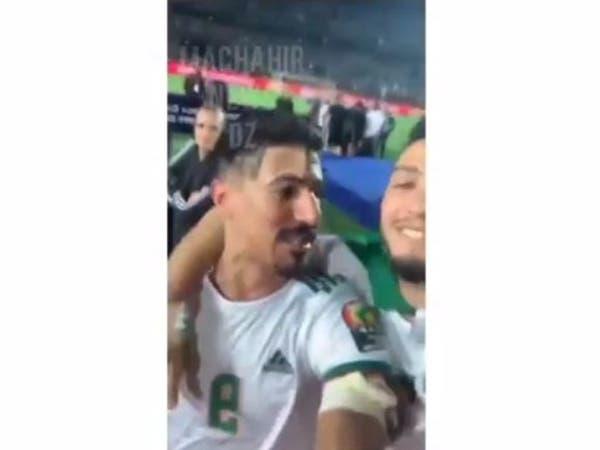 """فيديو لمحاربي الصحراء بعد الفوز.. """"فلسطين فلسطين"""""""