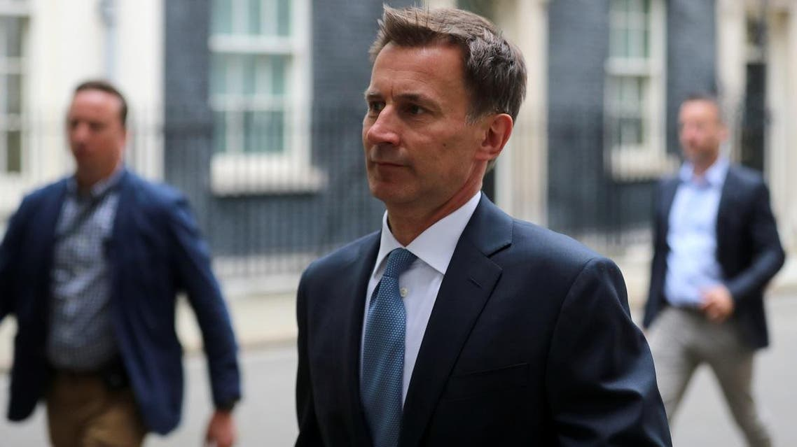 Britain's Foreign Secretary Jeremy Hunt is seen outside Downing Street in London on July 20,2019. (Reuters)
