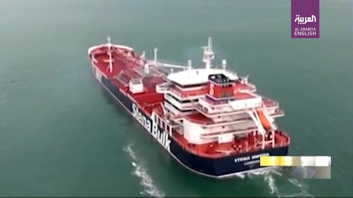 Iran TV broadcasts footage showing British-flagged tanker