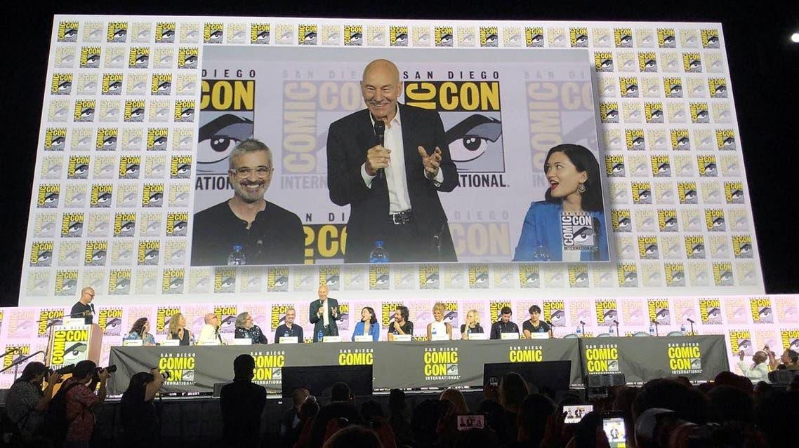 British actor Patrick Stewart speaks at San Diego Comic-Con. (Reuters)