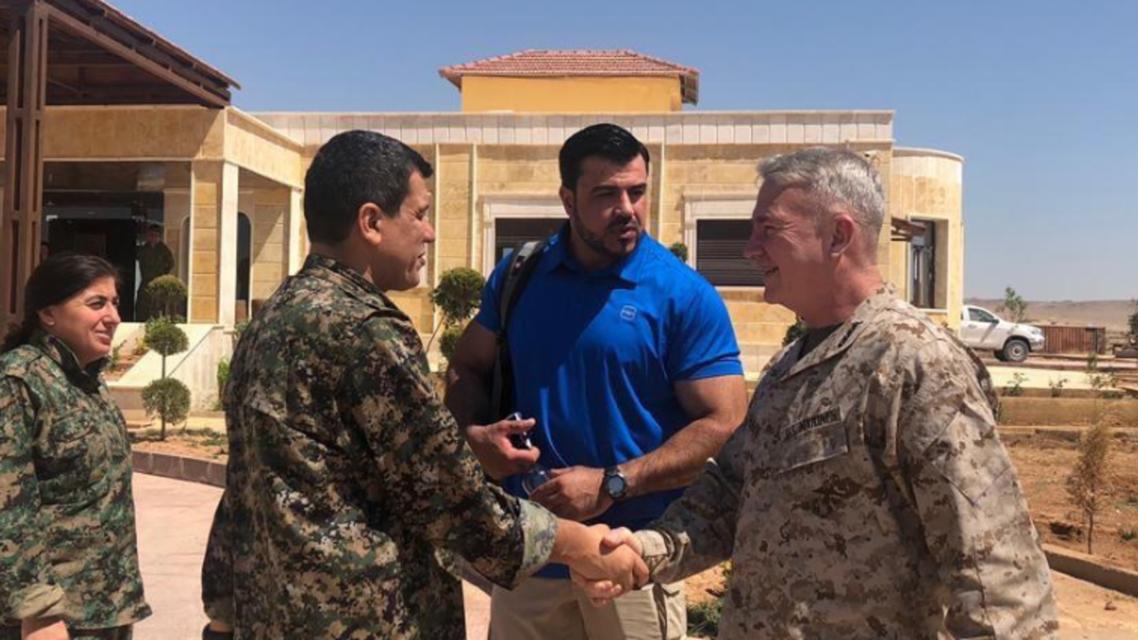 تفاصيل اجتماع سري بين قسد وقائد بالجيش الأميركي