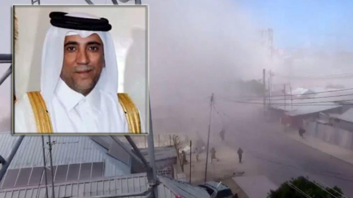 سفير قطر في الصومال وصورة من تفجيرات بوصاصو