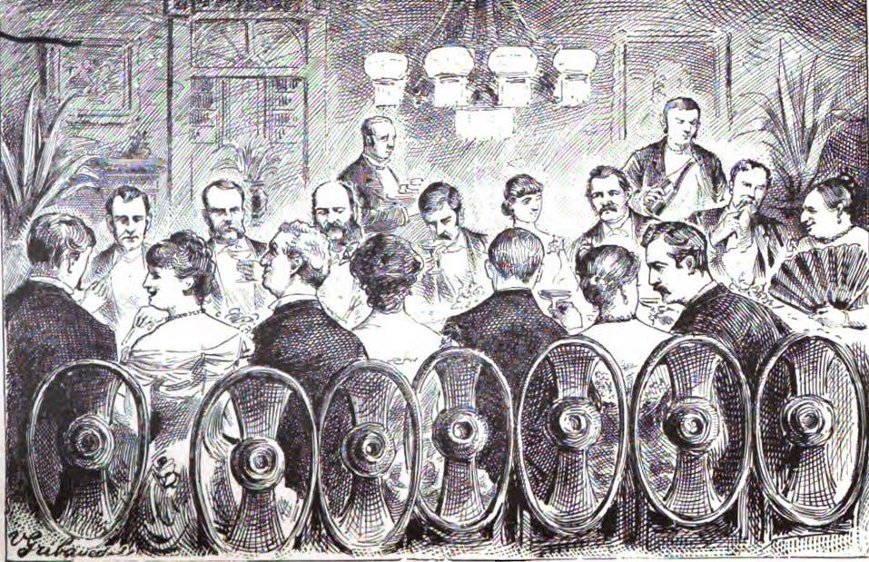 رسم تخيلي لإحدى مؤدبات العشاء التي نظمتها فريدريكا ماغدلبوم لعدد من كبار الشخصيات