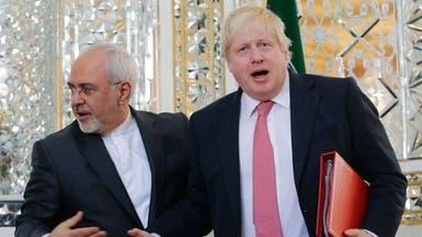 تهنئة ووعيد.. ظريف لجونسون: طهران ستحمي الخليج