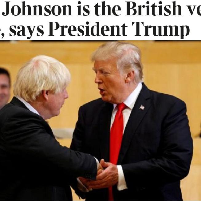 فيديو لترمب: بوريس جونسون نسخة بريطانية عني