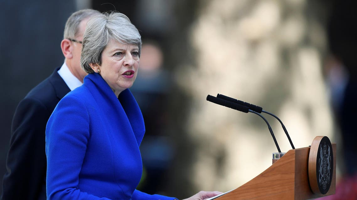 Theresa May gives her final speech as PM (reuters)
