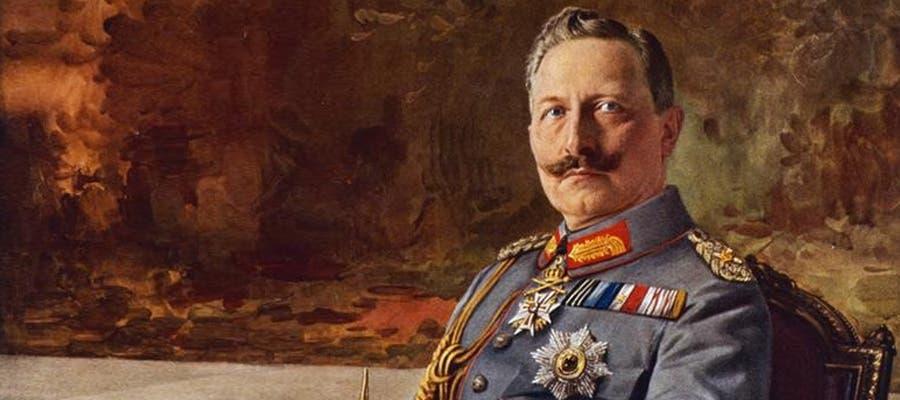 لوحة تجسد الإمبراطور الألماني فيلهلم الثاني