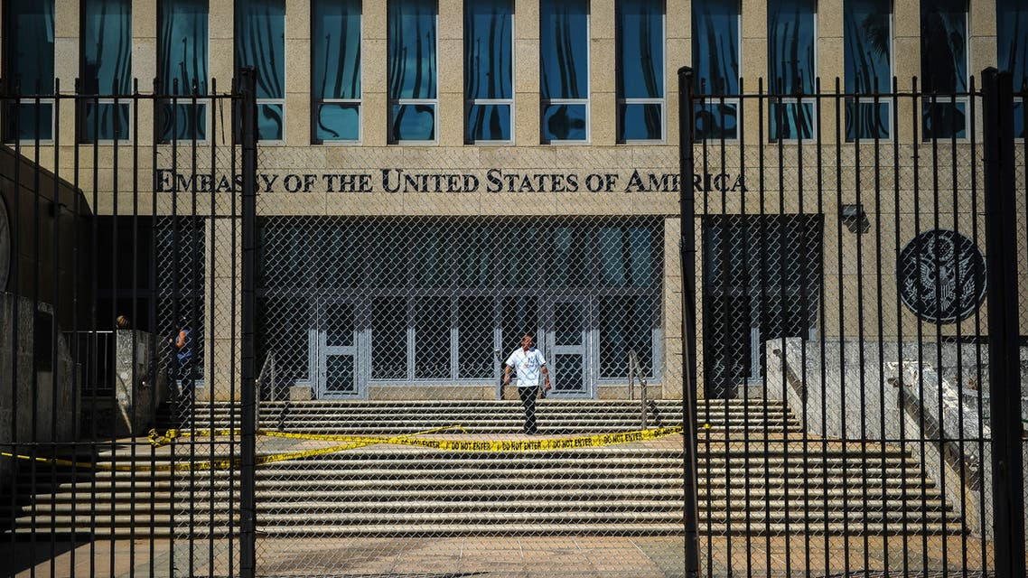Picture of the US embassy in Havana, taken on October 3, 2017. Cuba's Foreign Minister Bruno Rodriguez on Tuesday slammed the US expulsion of Cuban diplomats as unjustified... unfounded and unacceptable, in a deepening row over mysterious attacks on staff at the US embassy in Havana.