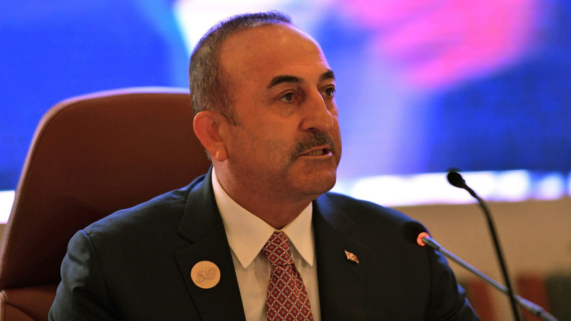 FILE PHOTO: Foreign Minister of Turkey Mevlut Cavusoglu in Jeddah, Saudi Arabia, May 29, 2019. REUTERS/Waleed Ali/File Photo