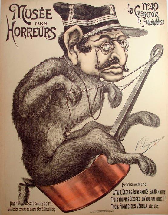 كاريكاتير ساخر حول ألفر دريفوس عقب اتهامه بالخيانة