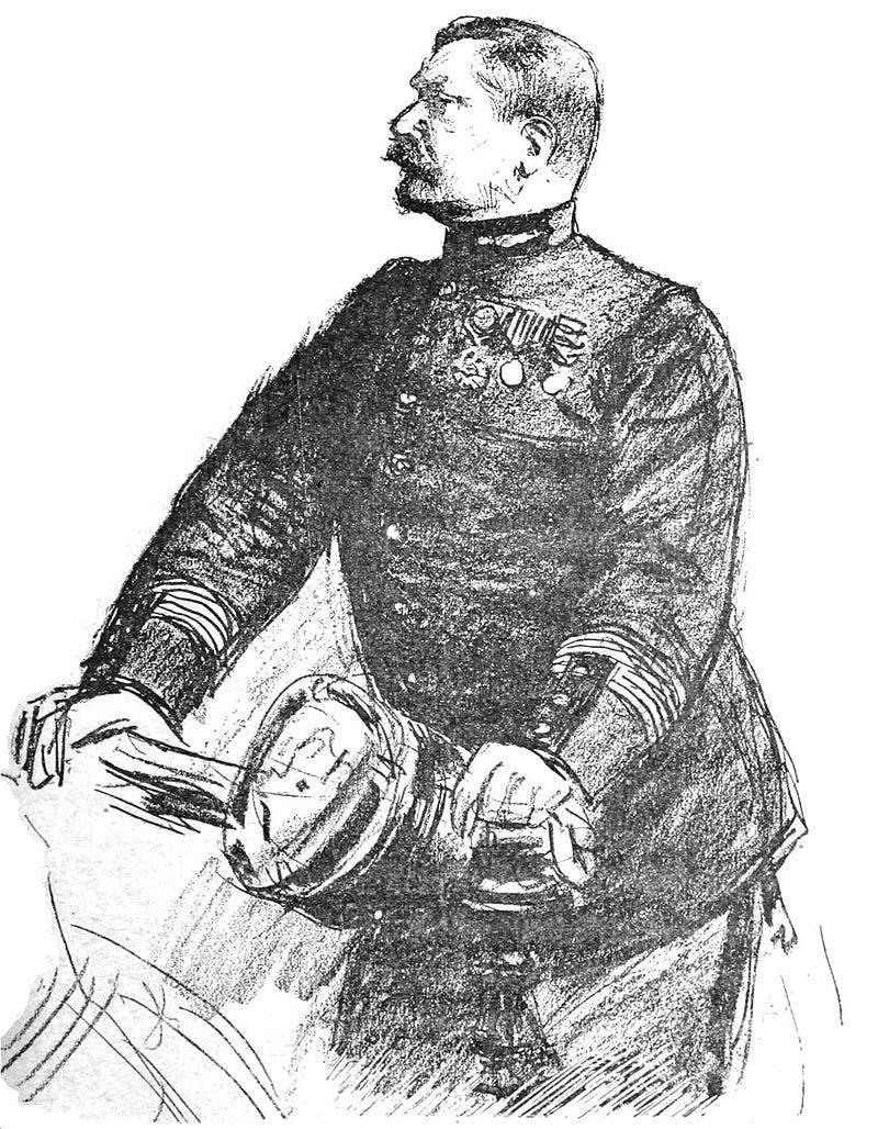 رسم تخيلي للكولونيل هوبيرت هنري