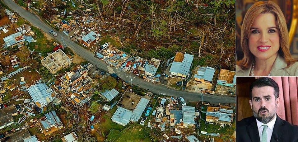 ترمب وصف حاكمة عاصمة بورتوريكو ببشعة، وحاكم الجزيرة بفاسد. أما الإعصار القاتل 3 آلاف، ففي الصورة نجد كيف ترك العاصمة وغادرها