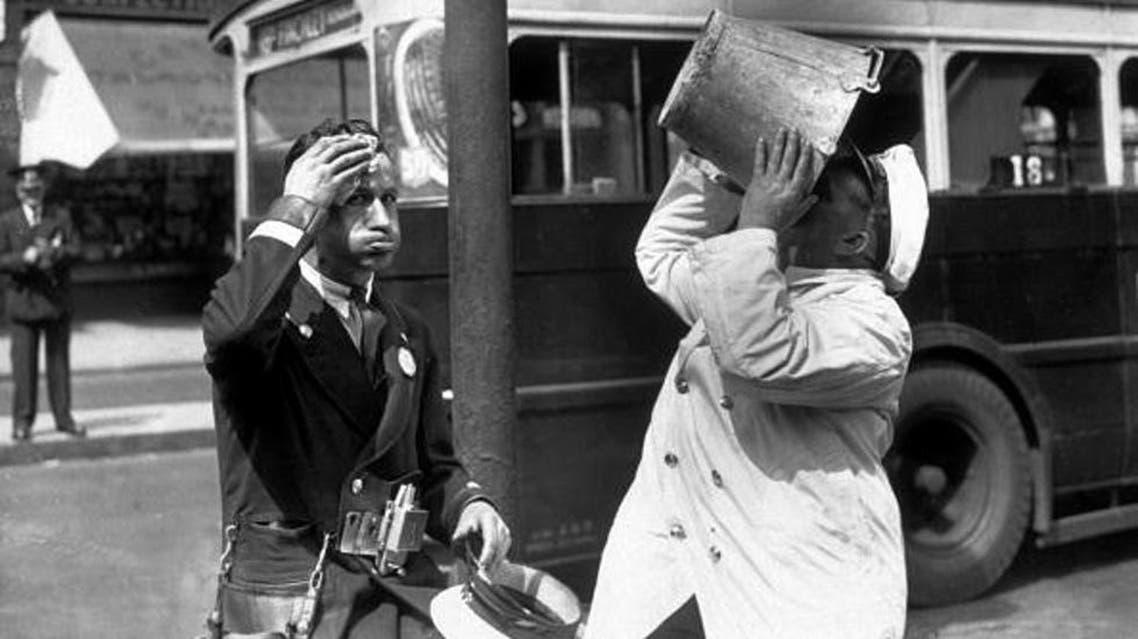 صورة تجسد تأثير الحرارة على حياة الواطنين بمينيسوتا عام 1936