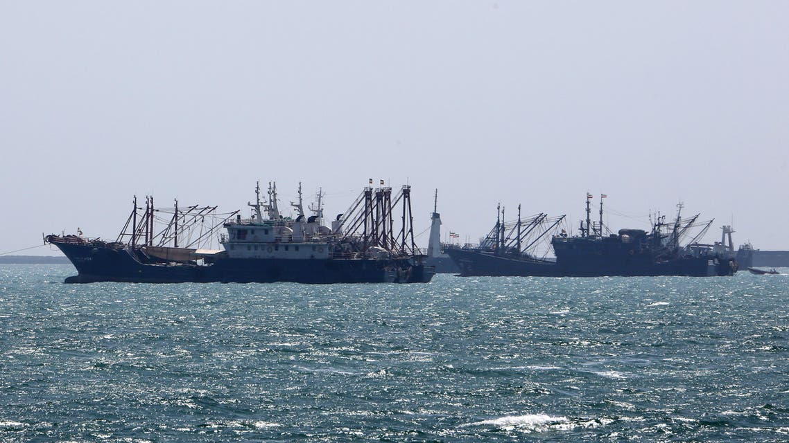 Ships sail in the Gulf off the Iranian port city of Bandar Abbas, which is the main base of the Islamic republic's navy and has a strategic position on the Strait of Hormuz, on April 29, 2019. Eight countries were initially given six-month reprieves after the United States reimposed sanctions on Iran in November, following President Donald Trump's decision to withdraw from a 2015 nuclear accord. Iran's Foreign Minister Mohammad Javad Zarif has said leaving the nuclear Non-Proliferation Treaty is one of the many options Tehran has to retaliate against US sanctions, state media reported.