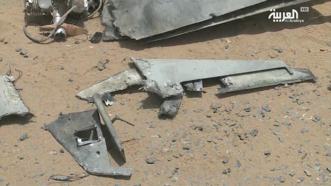 File photo of a Houthi militia drone. (Supplied)