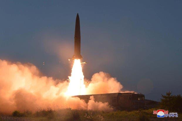 لقطة من التجربة الصاروخية الجديدة في كوريا الشمالية
