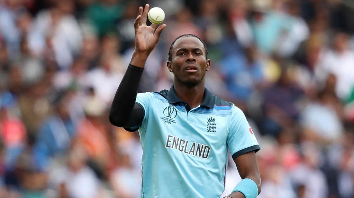 England's Jofra Archer in action during the ICC Cricket World Cup final against New Zealand at Lord's, London, on July 14, 2019. (Reuters)
