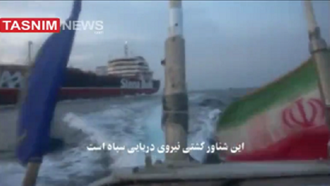 New IRGC video showing how they reoprtedly warned the British tanker before seizure. (Screengrab)