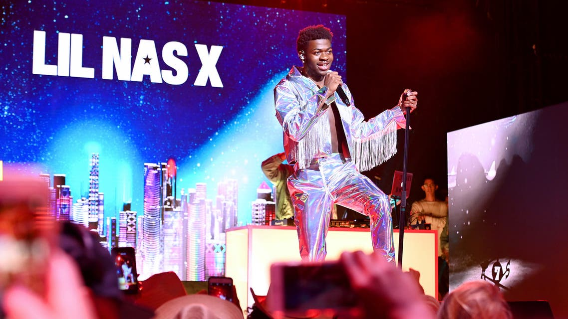 NEW YORK, NEW YORK - JULY 25: Lil Nas X performs on stage during Internet Live By BuzzFeed at Webster Hall on July 25, 2019 in New York City. Noam Galai/Getty Images for BuzzFeed/AFP