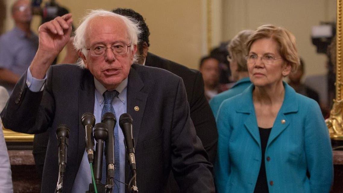 Sanders and Warren (AFP)