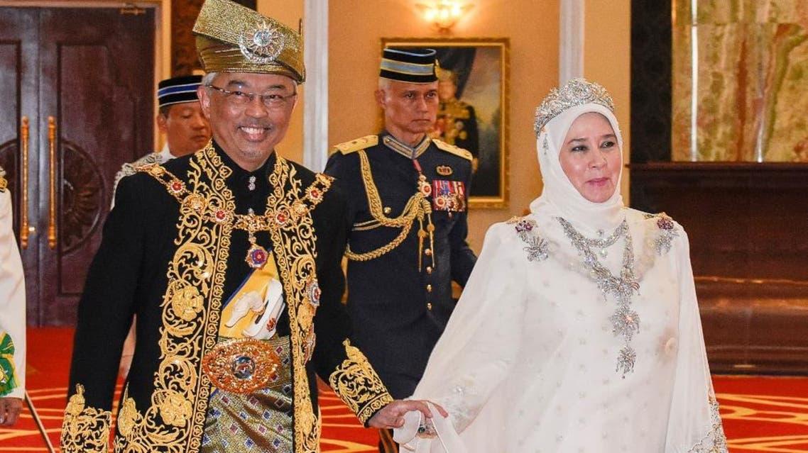 This handout from Malaysia's Department of Information taken and released on July 30, 2019 shows Malaysia's King Abdullah Ri'ayatuddin Al-Mustafa Billah Shah Ibni Almarhum - AFP