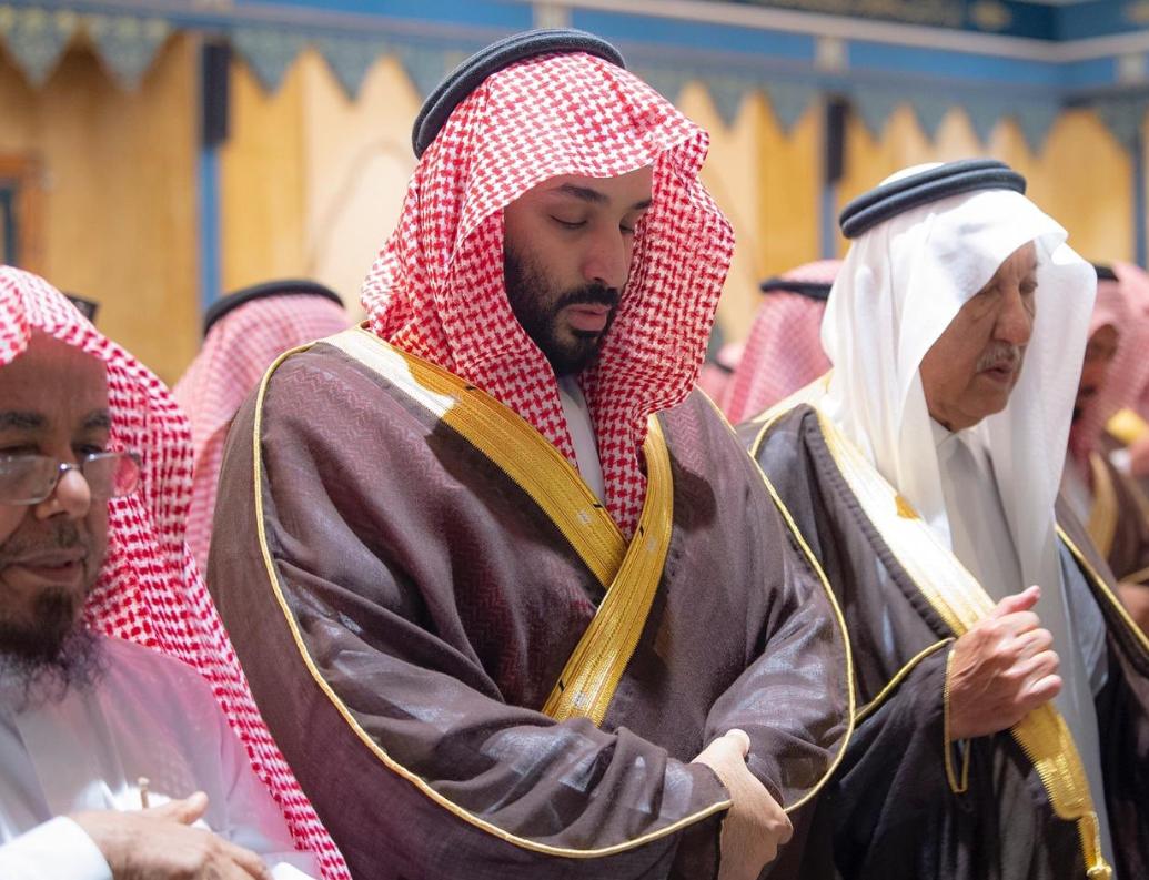 Mohammed bin Salman at Bandar bin Abdulaziz funeral prayer - SPA