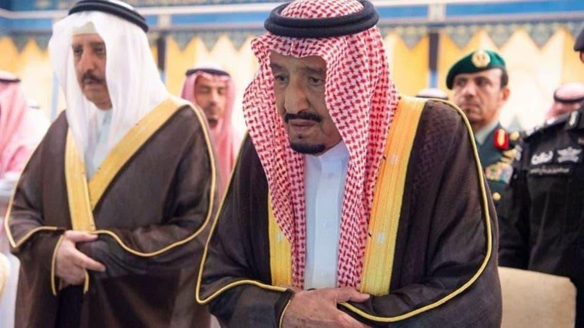 shah Salman attand prince bander bin abdul aziz's  funeral