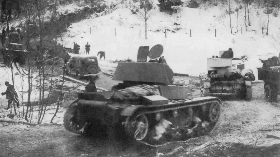 جانب من الجيش السوفيتي عقب اجتياحه للأراضي الفنلندية