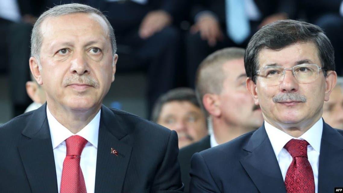 داود اوغلو وأردوغان