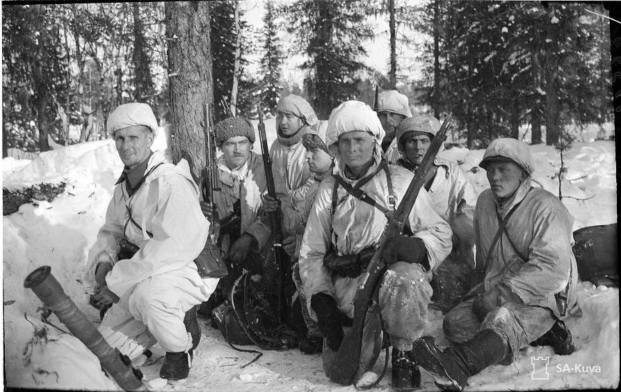 جانب من الجنود الفنلنديين الذين قاوموا التقدم السوفيتي