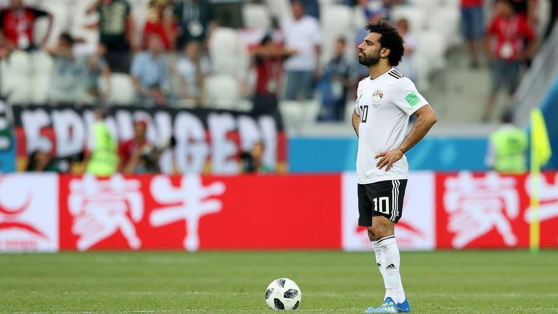 صلاح متأثرا في كأس العالم الأخيرة