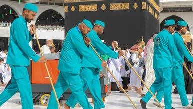 در تدارک برای حج.. 4000 نفر نظافت صحنهای مسجد الحرام را بر عهده دارند