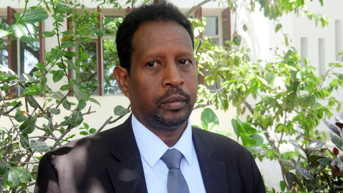 Mogadishu Mayor Abdirahman Omar Osman is seen at an event in Mogadishu, Somalia April 19, 2017. Picture taken April 19, 2017. REUTERS/Feisal Omar