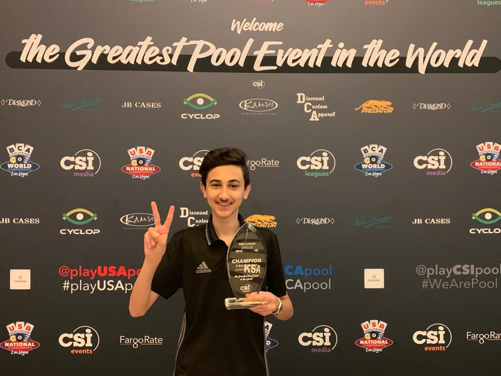 Fourteen-year-old Saudi billiards champion takes home first